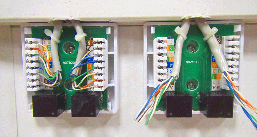 Установка сетевых розеток rj-45 своими руками 36